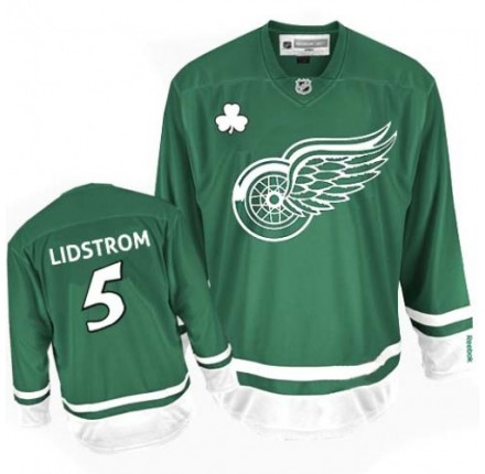NHL Nicklas Lidstrom Detroit Red Wings Youth Premier St Patty's Day Reebok Jersey - Green