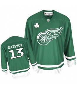 NHL Pavel Datsyuk Detroit Red Wings Youth Premier St Patty's Day Reebok Jersey - Green