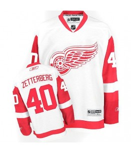 NHL Henrik Zetterberg Detroit Red Wings Women's Premier Away Reebok Jersey - White